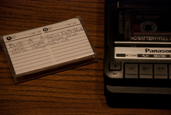 player/recorder, cassette tapes.